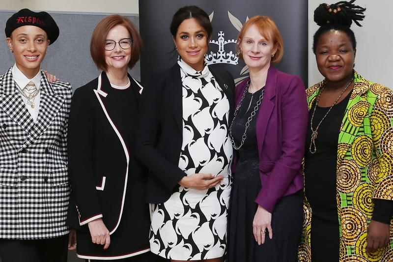 Meghan Markle International Women's Day Panel Adwoa Aboah Annie Lennox Julia Gillard
