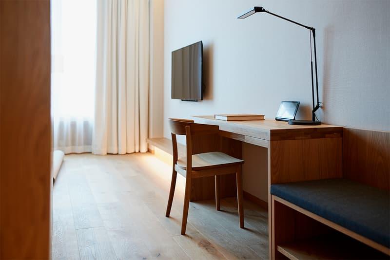 Muji Hotel Ginza Tokyo Japan Interior Minimalist Travel Desk Lamp