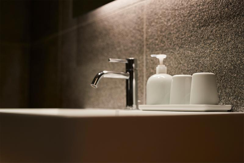 Muji Hotel Ginza Tokyo Japan Interior Minimalist Travel Bathroom Sink Amenities