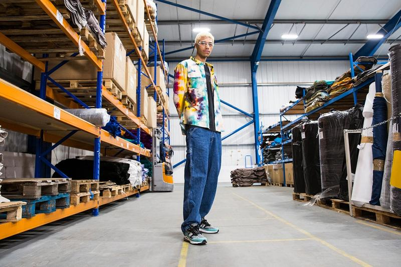 New Balance Made in UK Spring Summer 2019 Collection 1500 Sneaker Blue Black Tie-Dye Shirt Yellow White