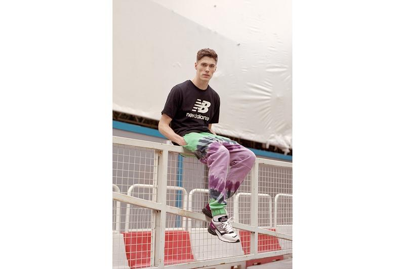 New Balance Made in UK Spring Summer 2019 Collection 1500.9 Sneaker Purple Grey Shirt Black
