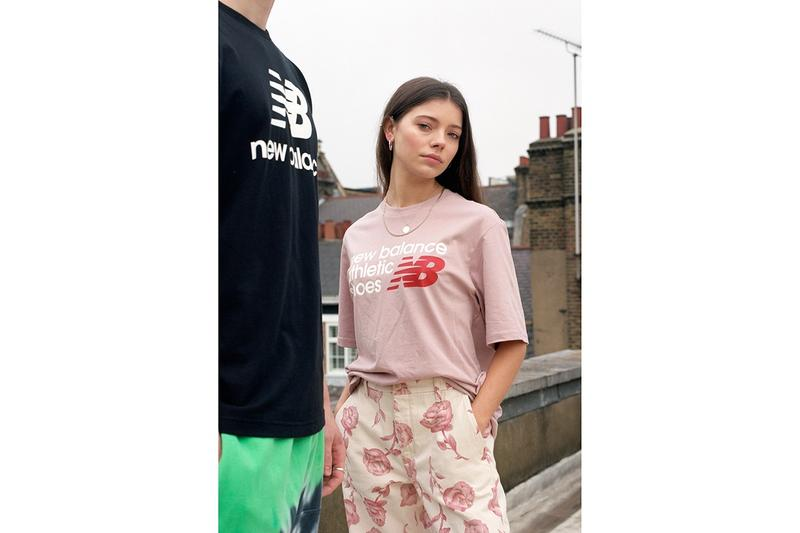 New Balance Made in UK Spring Summer 2019 Collection T-shirt Black Pink