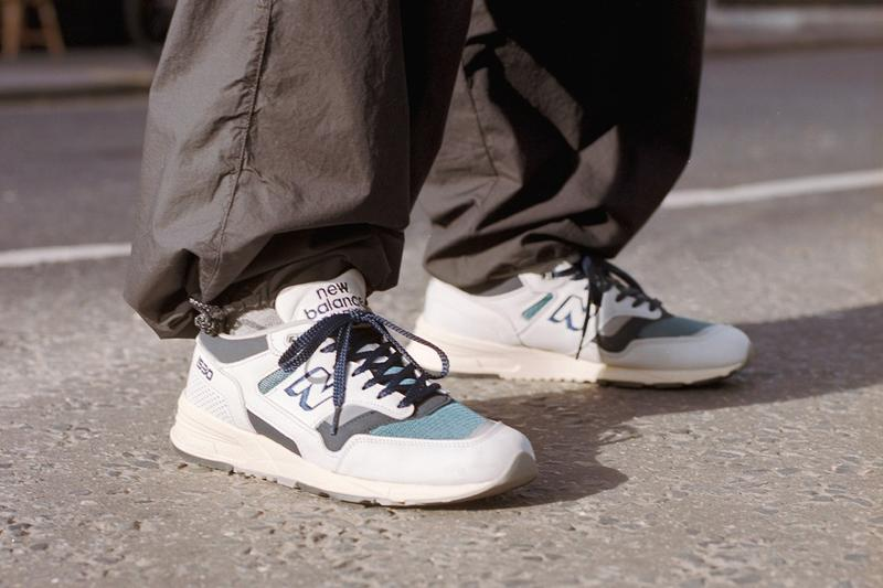 New Balance Made in UK Spring Summer 2019 Collection 1530 Sneaker Cream Grey Teal