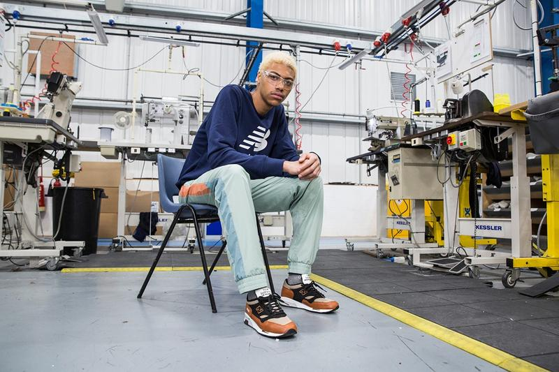 New Balance Made in UK Spring Summer 2019 Collection 1500 Sneakers Tan Top Pants Blue