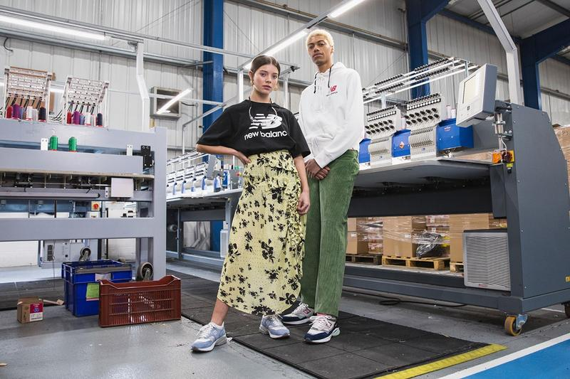 New Balance Made in UK Spring Summer 2019 Collection 1500.9 Sneaker Blue Skirt Yellow Shirt Black