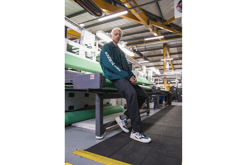 New Balance Made in UK Spring Summer 2019 Collection 1500 Sneaker Grey Teal Jacket Green Pants Black