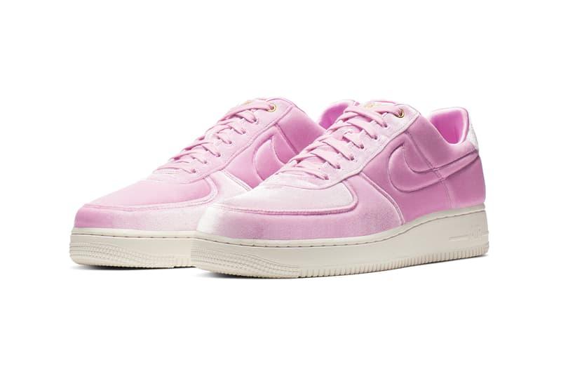 explosión término análogo Gratificante  Nike Air Force 1 Pink Velvet / Velour Trainers | HYPEBAE