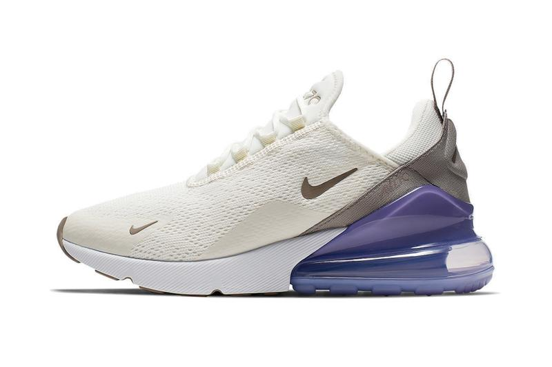 "Nike Air Max 270 ""Lilac"" Release Date White Cream Brown Purple"