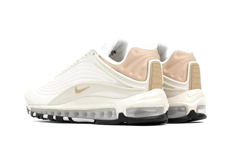 """Nike Air Max Deluxe SE in """"Sail/Desert Ore"""" Sneaker Shoe Trainer White Spring Outfit Swoosh Texture Upper"""