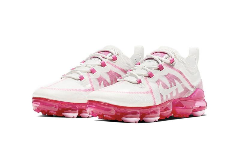"""Nike Air VaporMax 2018 """"Pink Rise"""" Release Date Sneaker Shoe Drop White Pink Trainer"""