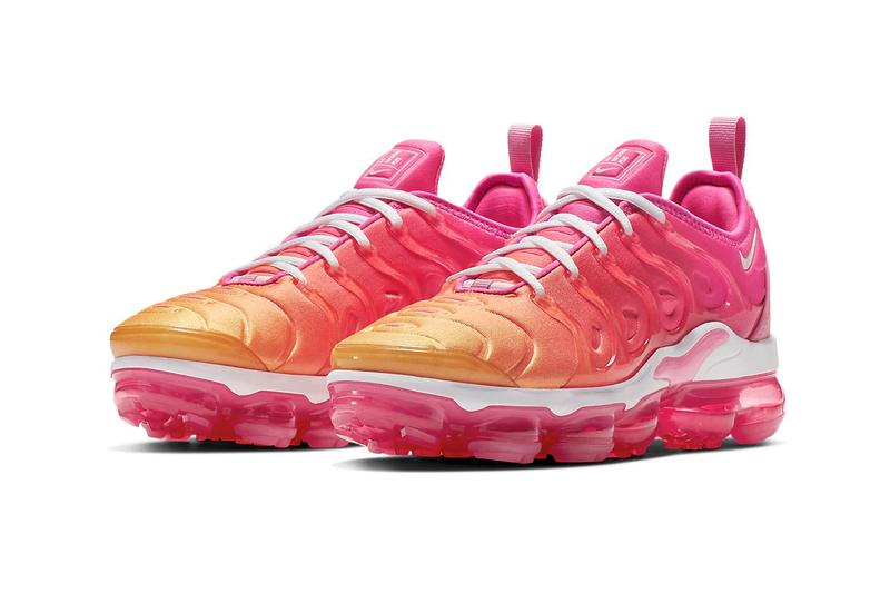 Nike Air VaporMax Plus Ombré Hot Pink Laser Fuchsia University Gold Yellow Gradient Sneakers