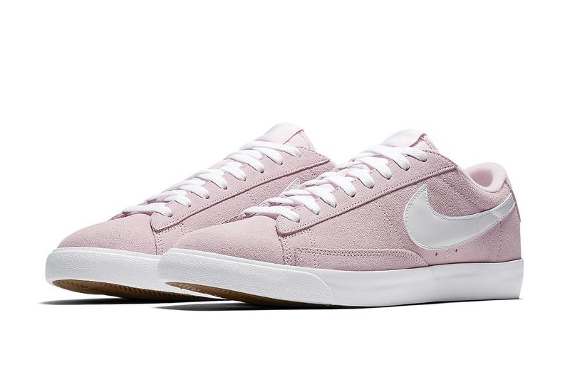 timeless design ba6e7 c9107 Nike Blazer Low Pastel Pink and Green Sneaker Release Drop Spring Footwear  Shoe Trainer