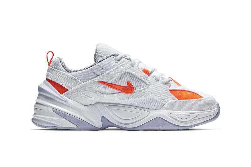 "Nike M2K Tekno ""Crimson White"" & ""Citrus Teal"" Sneaker Shoe Spring Trainer Footwear Neon Detail Fashion"