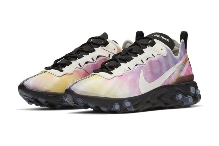on sale 2ea43 7d2f9 Nike s React Element 55 Is Dropping Soon in a Tie-Dye Colorway