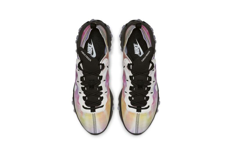 Nike React Element 55 Tie-Dye Black Green Pink