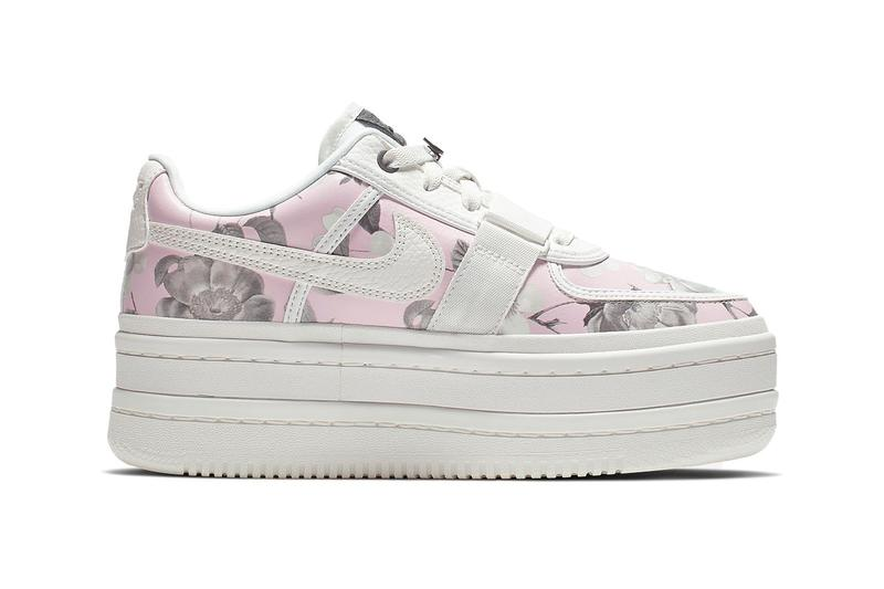 288c4d78100f45 Nike Vandal 2K LX Floral Rose Pink White Leather Platform Sneakers Trainers
