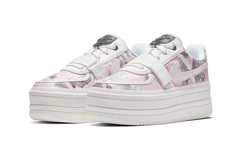 Nike Vandal 2K LX Floral Rose Pink White Leather Platform Sneakers Trainers