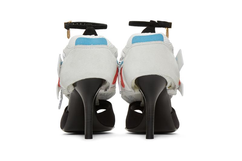 Off-White Spring Summer 2019 Runner Heel Sandals Black