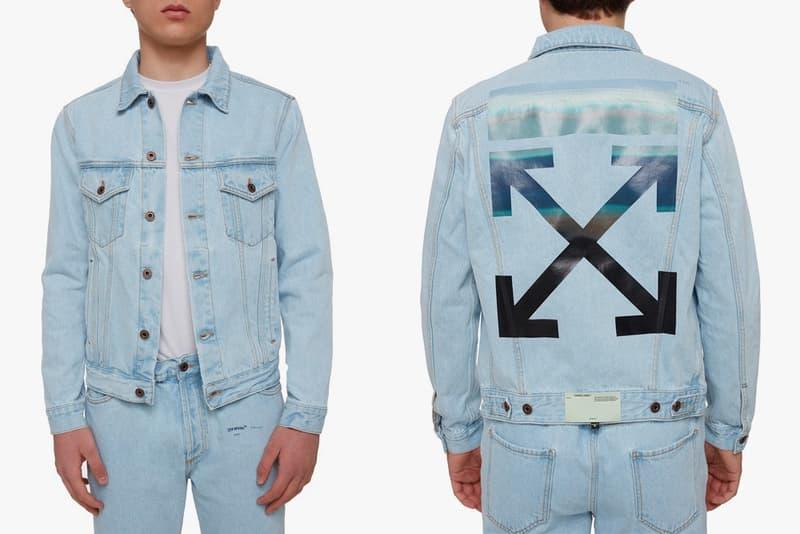 Off White Gente Roma Gradient Arrows Denim Jacket