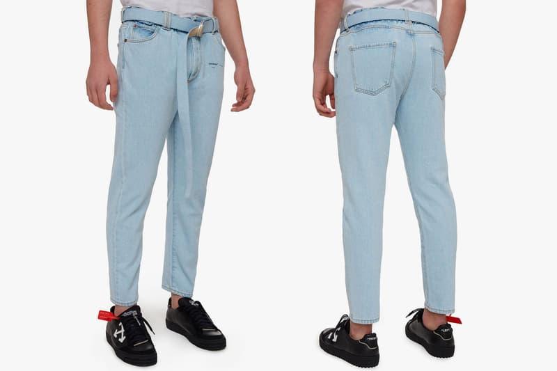 Off White Gente Roma Slim Fit Logo Denim Jeans