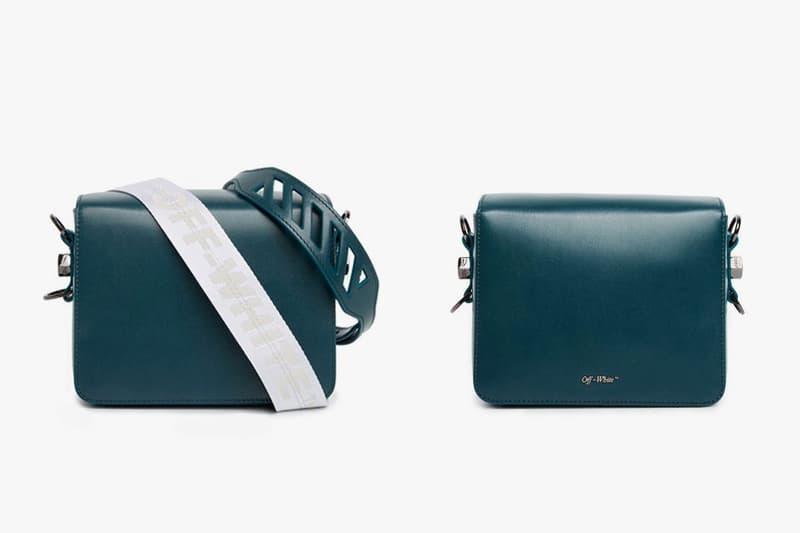 Off White Gente Roma Green Binder Clip Bag