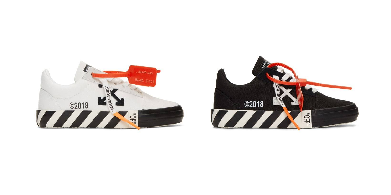 Off-White Striped Vulcanized Sneakers