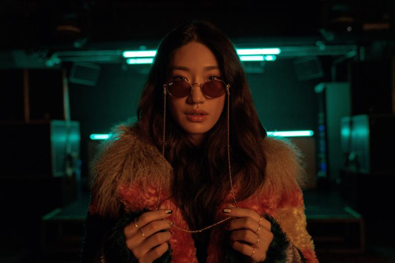 Peggy Gou x Ray Ban Sunglasses Collection Oval Violet Photochromic