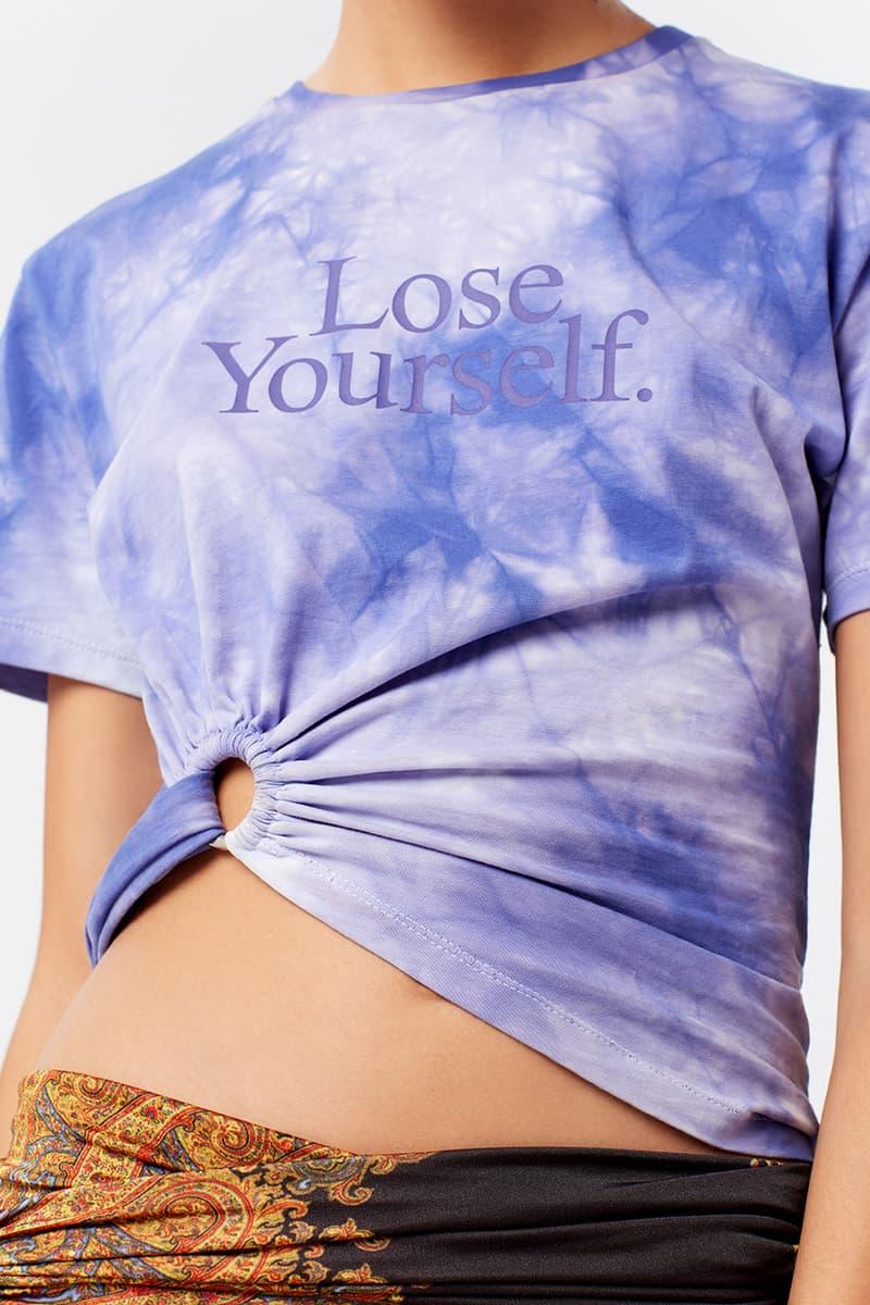 Peter Saville Paco Rabanne Exclusive Crop Tie Dye T Shirt
