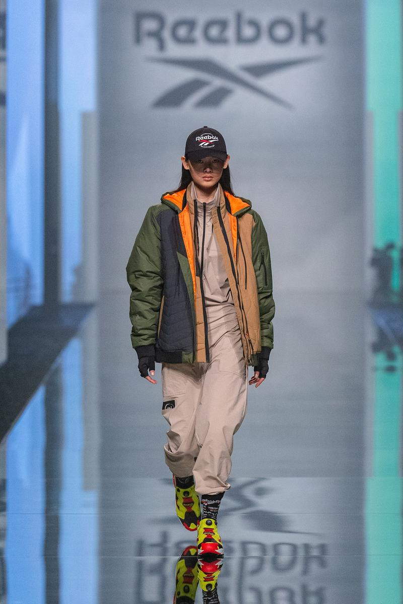 Reebok Fall Winter 2019 Shanghai Fashion Week Show Collection Jacket Green Pants Tan