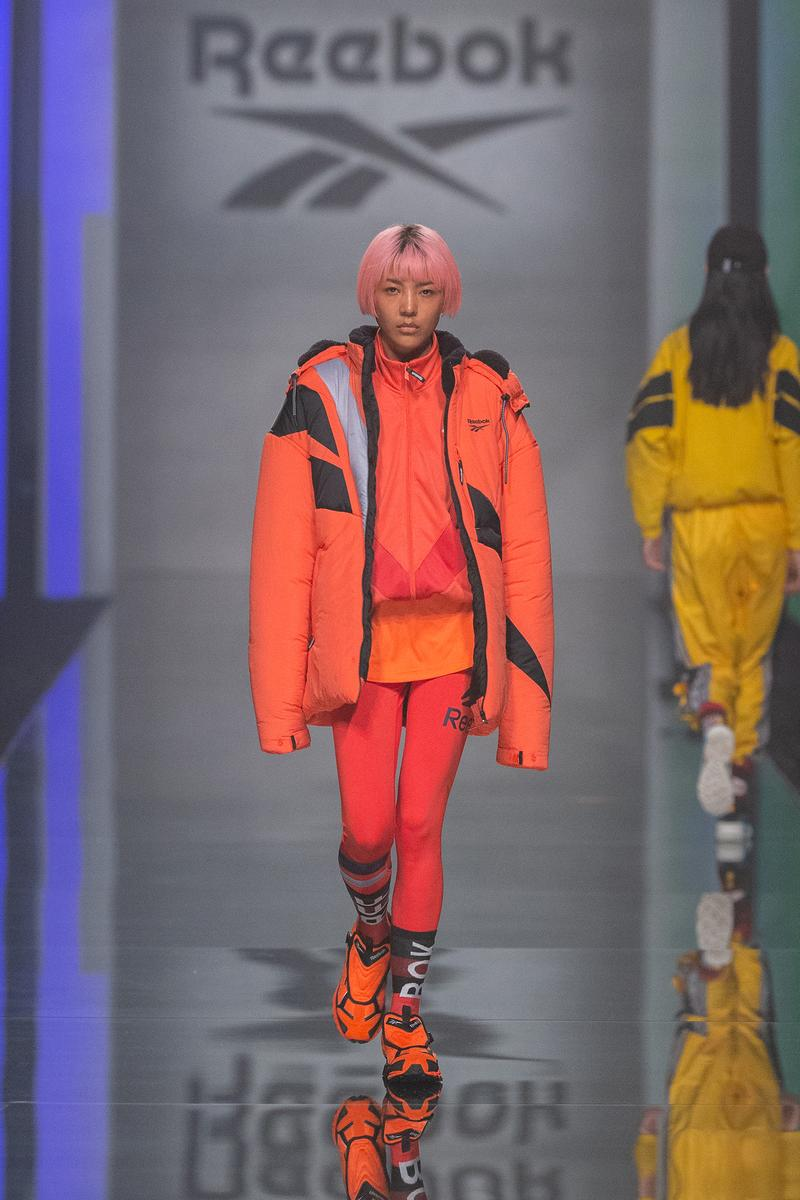 Reebok Fall Winter 2019 Shanghai Fashion Week Show Collection Jacket Pants Orange