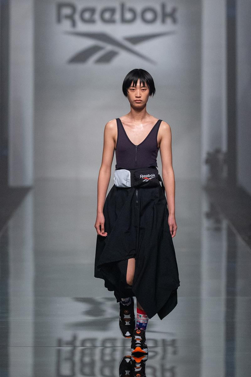 Reebok Fall Winter 2019 Shanghai Fashion Week Show Collection Top Skirt Black