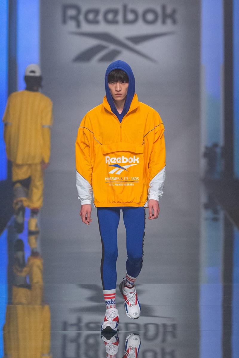 Reebok Fall Winter 2019 Shanghai Fashion Week Show Collection Jacket Yellow Pants Blue