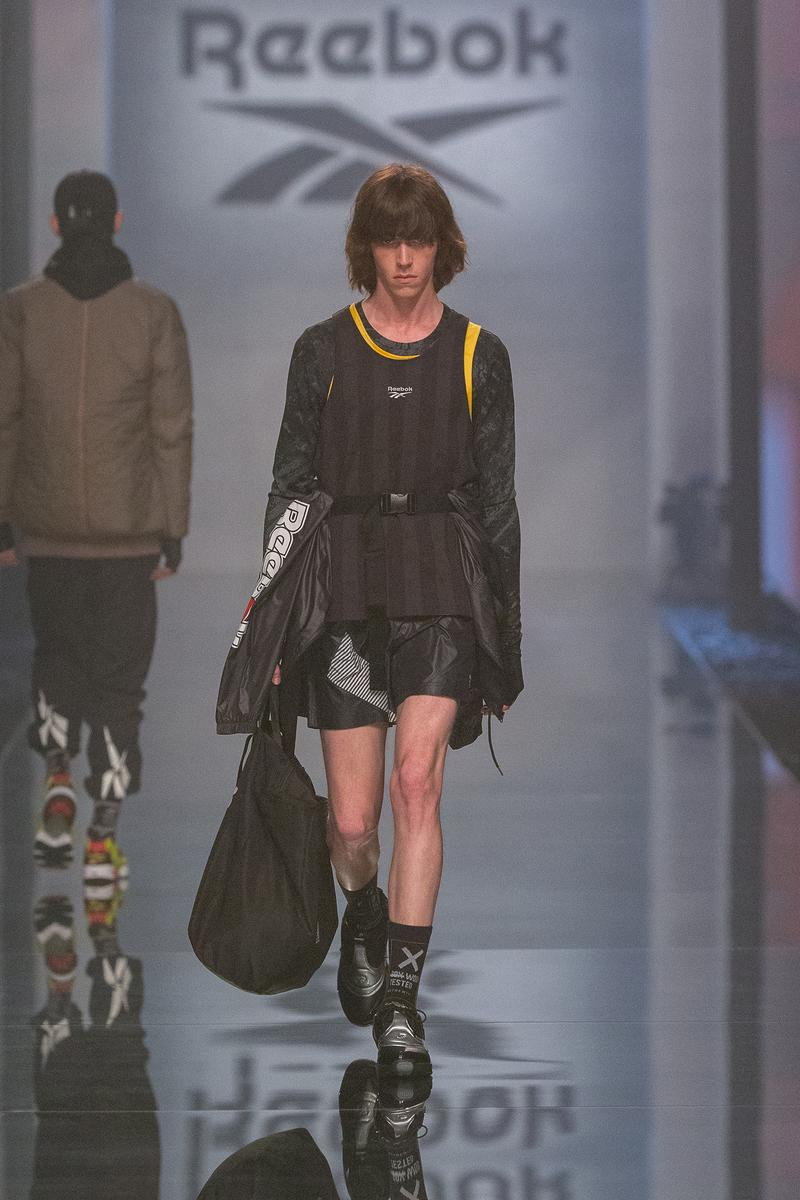 Reebok Fall Winter 2019 Shanghai Fashion Week Show Collection Jacket Bag Dress Black