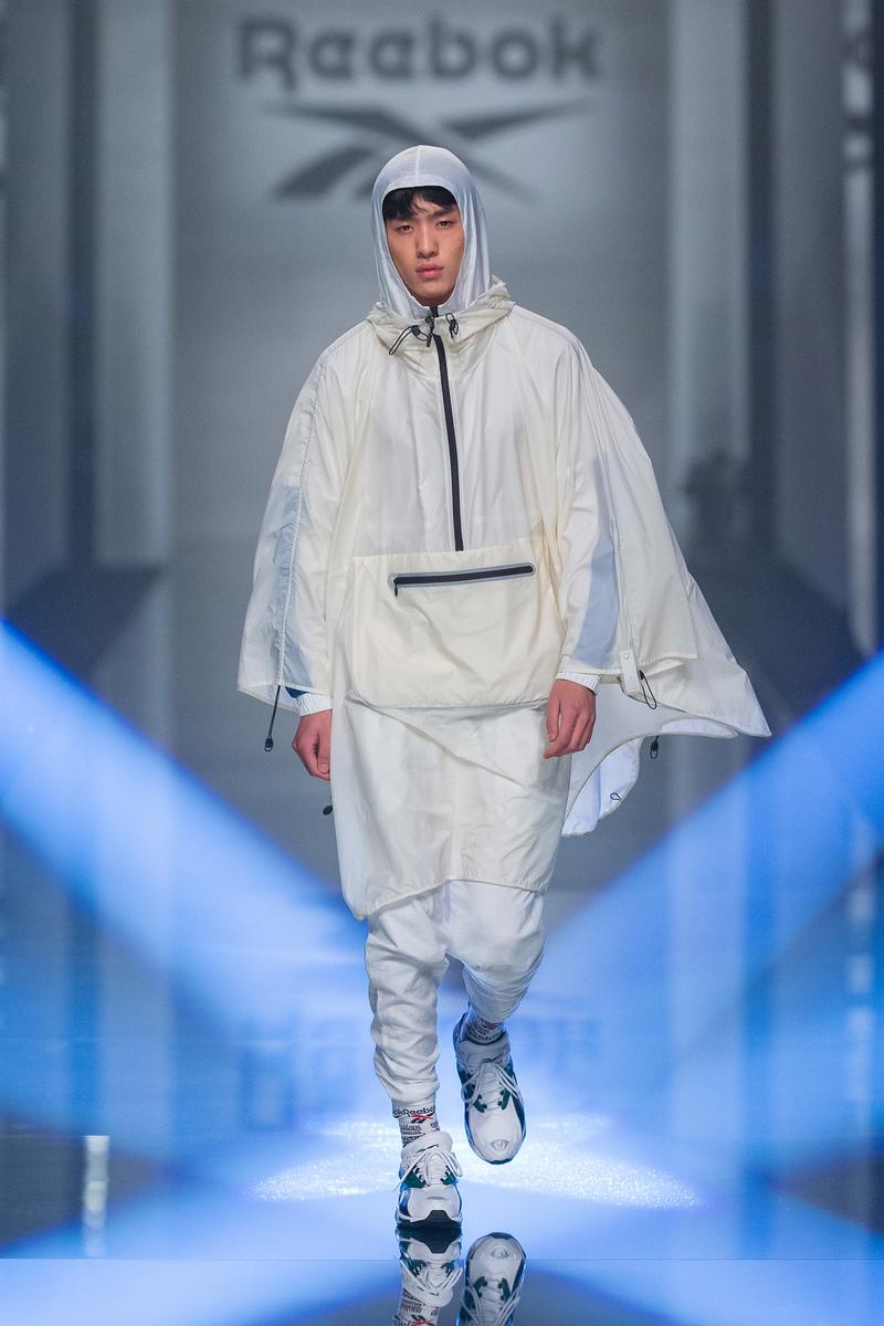 Reebok Fall Winter 2019 Shanghai Fashion Week Show Collection Jacket Pants White