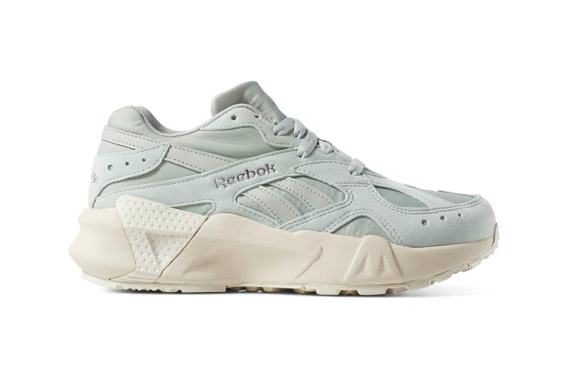 Reebok Aztrek Double Platform Pastel Sneakers Trainers Pink Lilac Sea Spray Blue Chalk White