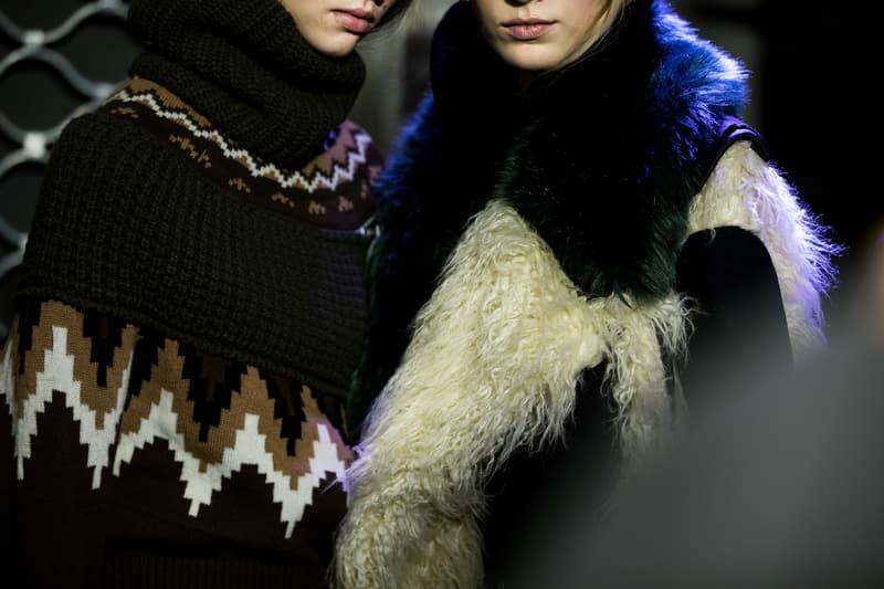 Backstage at Sacai FW19 at Paris Fashion Week Chitose Abe Kaia Gerber Binx Walton Fall Winter 2019 Behind The Scenes