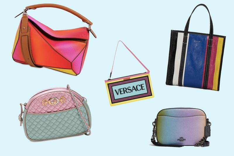 Best Bags for Spring: Balenciaga, Gucci, Loewe Coach Off-White Versace Purse Summer Fashion Colorful Designer Bag