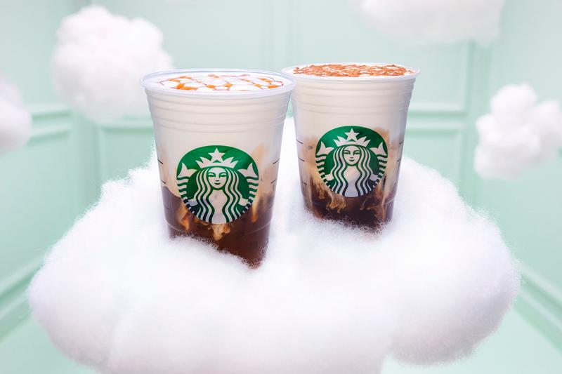 See Starbucks' Latest Cloud Macchiato Drink Collaboration Ariana Grande Coffee Teaser Beverage Food