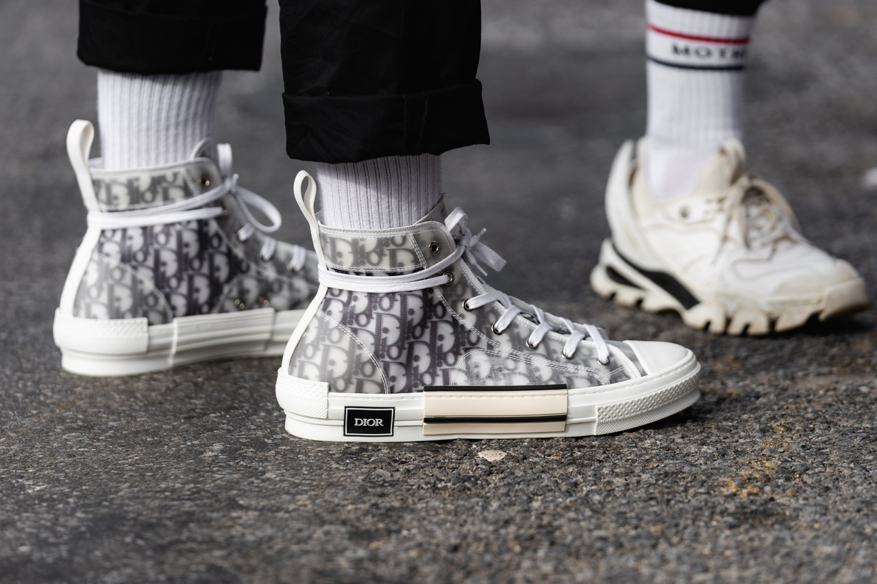 Street Style Sneakers at Fashion Week