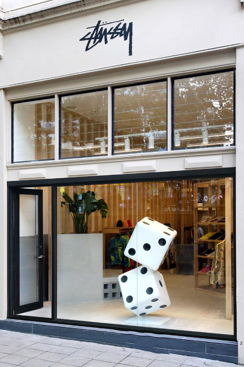Stussy Sydney Chapter Store Front Dice Black White