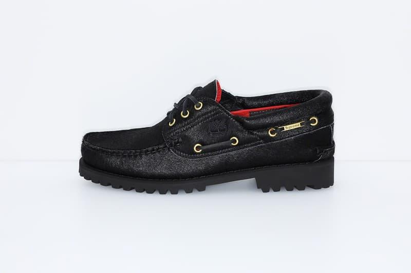 Supreme x Timberland 2019 3-Eye Classic Lug Shoe Black