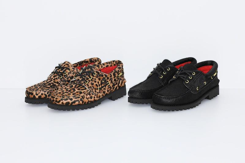 Supreme x Timberland 2019 3-Eye Classic Lug Shoe Leopard Black