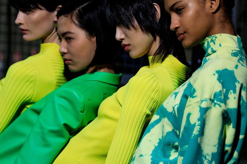 Off White Virgil Abloh Fall Winter 2019 Paris Fashion Week Show Collection Sweaters Yellow Green Black