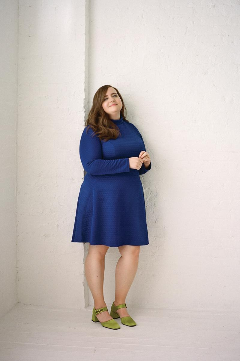 The Wing Spring 2019 Issue 3 No Man's Land Aidy Bryant Dress Blue Shoes Green