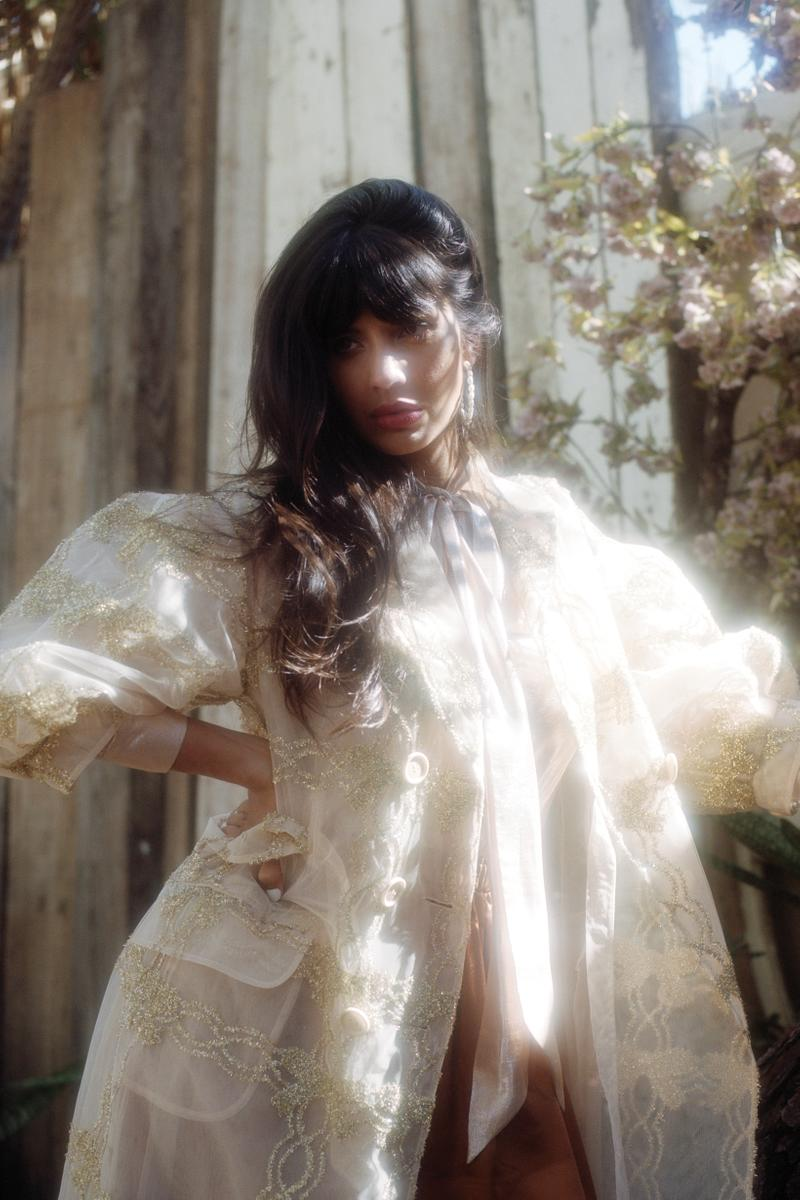 The Wing Spring 2019 Issue 3 No Man's Land Jameela Jamil Dress Cream Gold