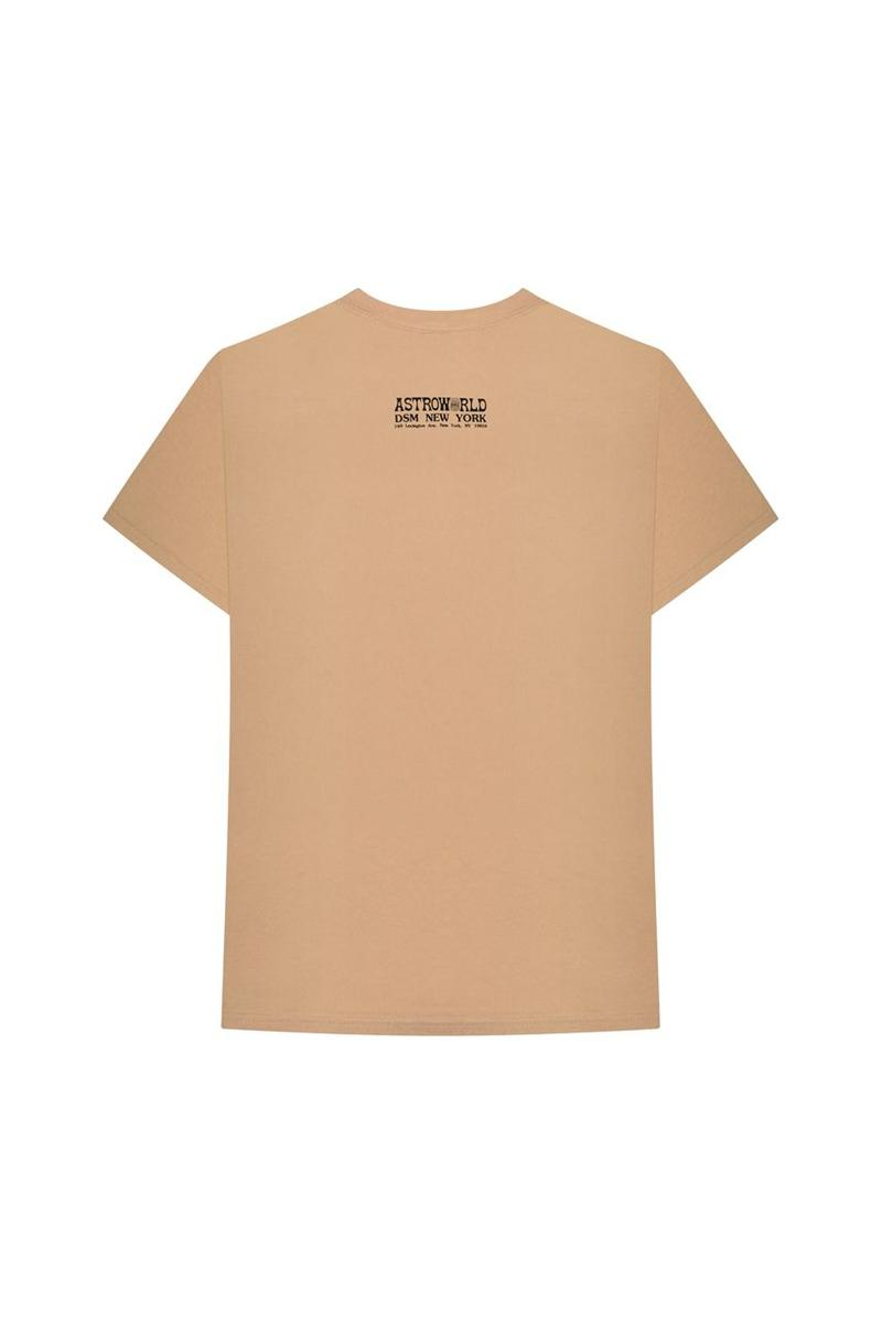 Travis Scott Astroworld Merch Collection T-shirt Tan
