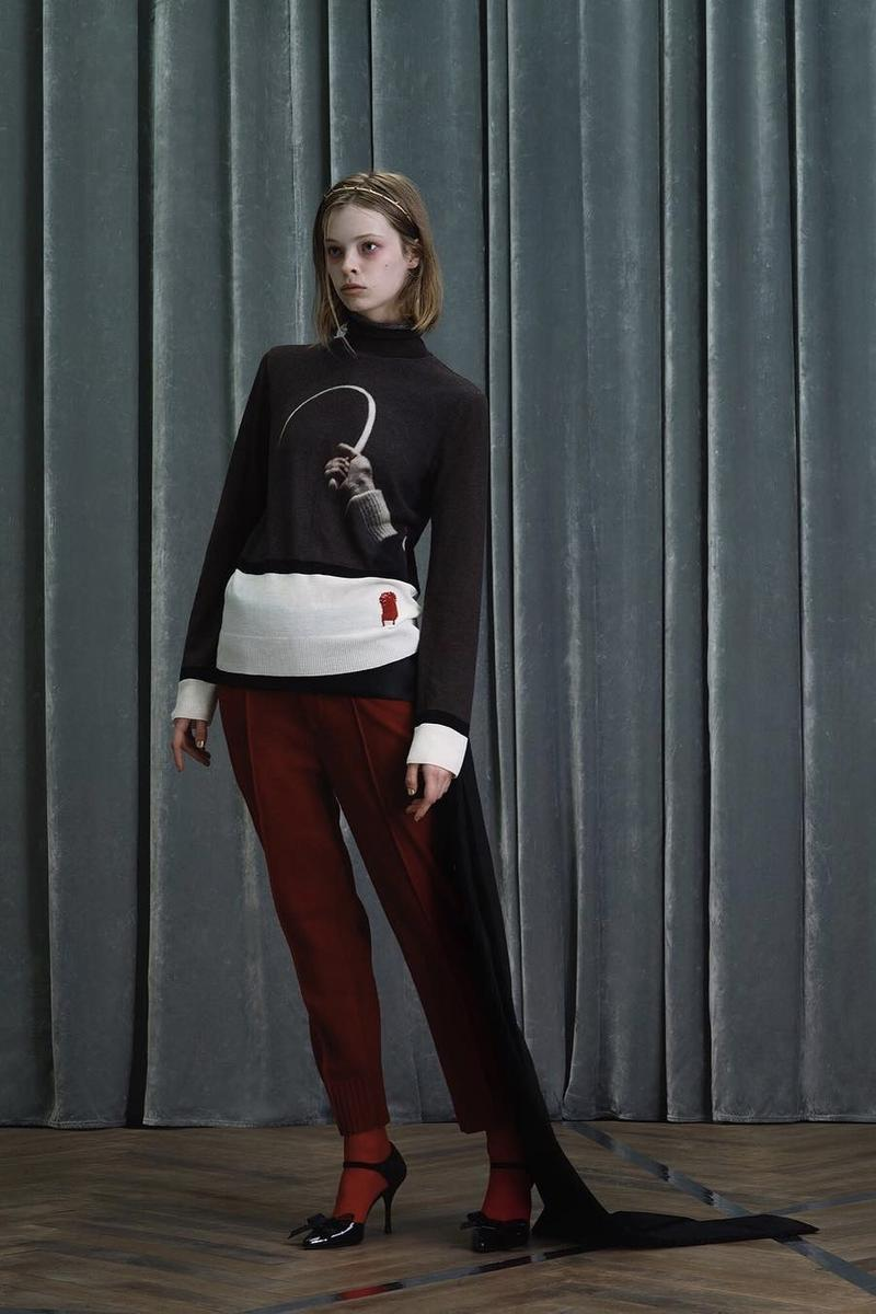 UNDERCOVER Fall Winter 2019 Collection Sweater White Black Pants Red
