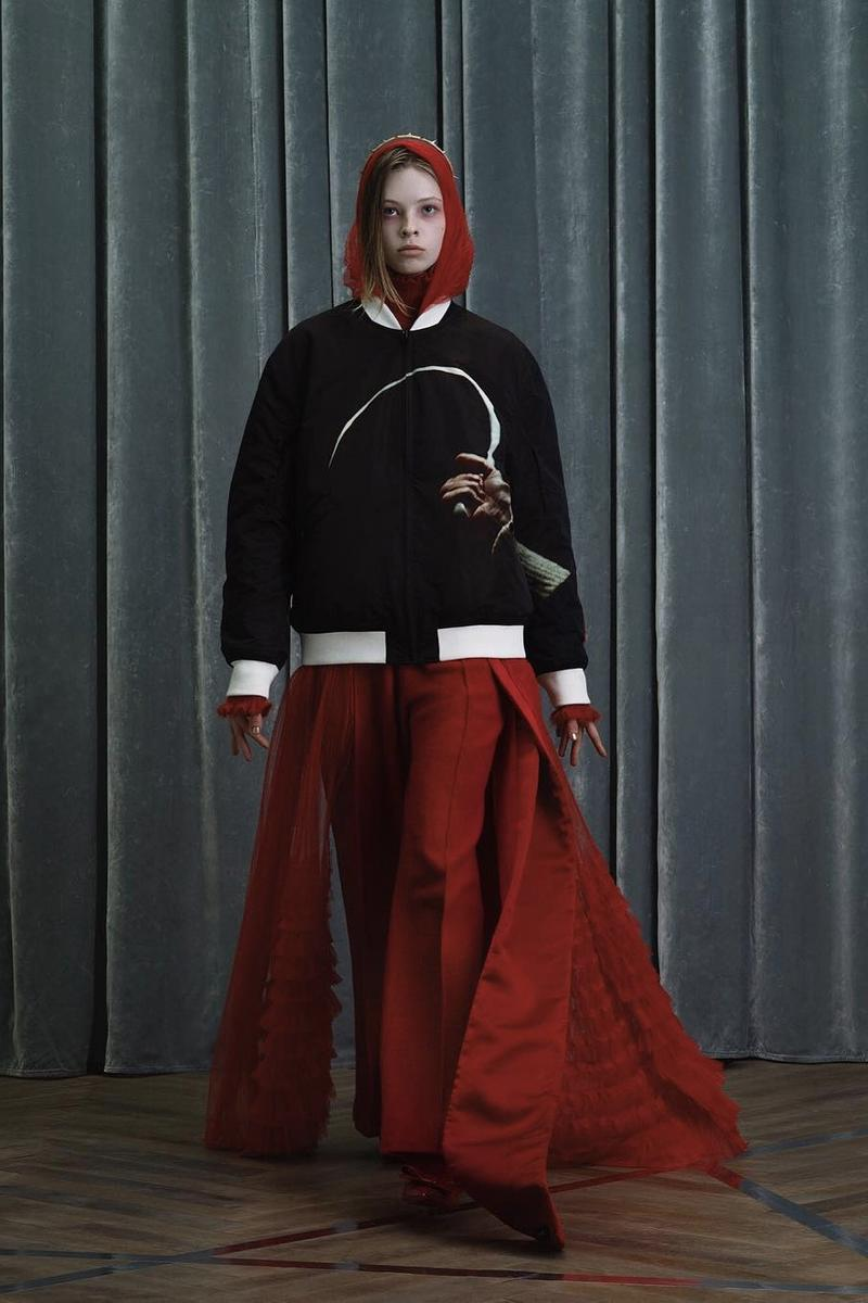 UNDERCOVER Fall Winter 2019 Collection Sweater Black Trousers Red