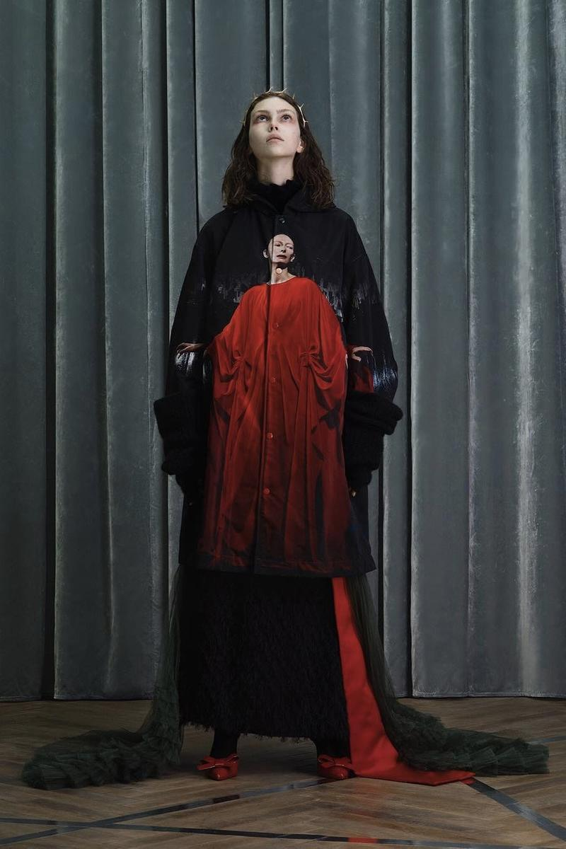 UNDERCOVER Fall Winter 2019 Collection Sweater Dress Black Red