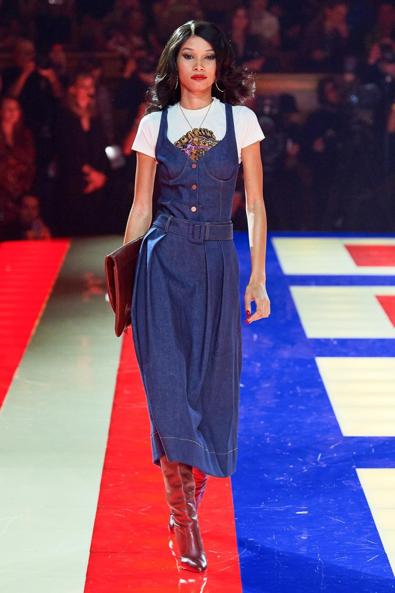 Tommy Hilfiger TommyNow Zendaya Spring 2019 Paris Fashion Week Show Collection Lineisy Montero Dress Blue